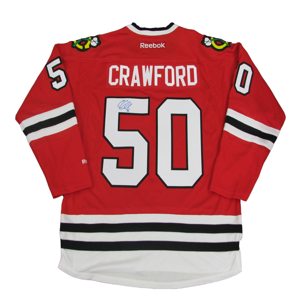 COREY CRAWFORD Signed Chicago Blackhawks Red Reebok Jersey