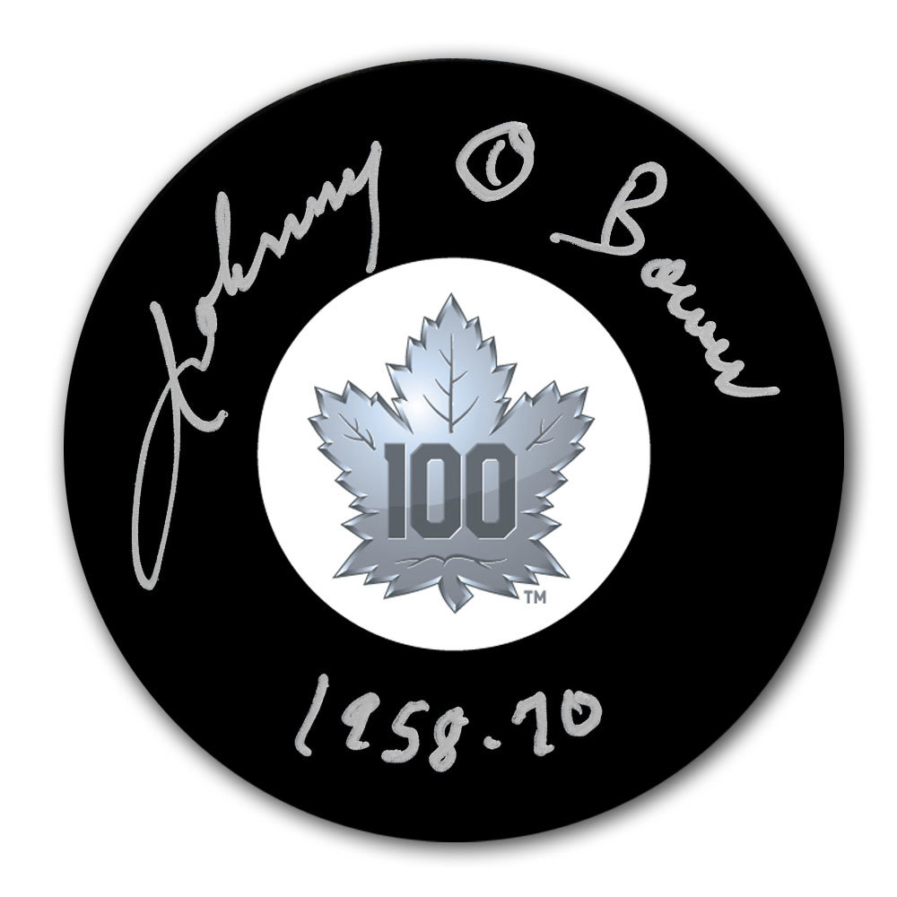 Johnny Bower Toronto Maple Leafs 100th Anniversary Autographed Puck