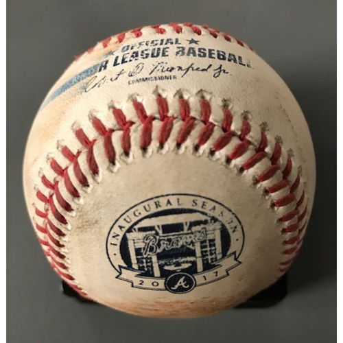Freddie Freeman and Nick Markakis Game-Used Multi-Hit Baseball - September 19, 2017