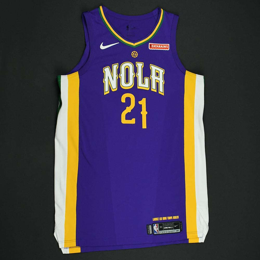 Darius Miller - New Orleans Pelicans - Game-Worn 'City' Jersey - 2017-18 Season