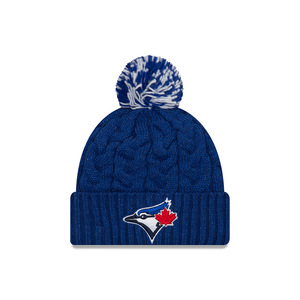 Toronto Blue Jays Youth Jr. Cozy Cable Knit Cap by New Era