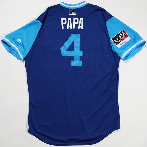 "Photo of Luis ""Papa"" Rivera Toronto Blue Jays Game-Used Jersey 2018 Players' Weekend Jersey"