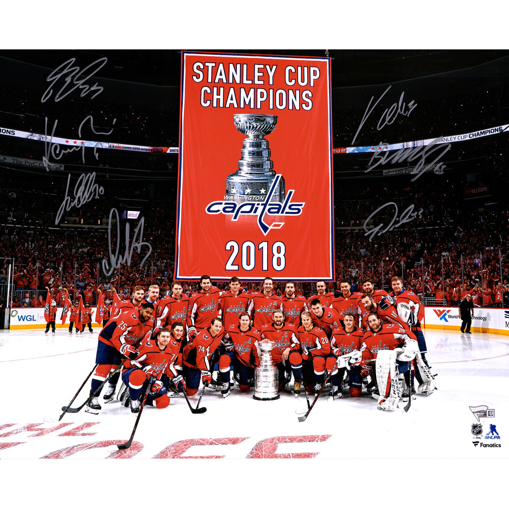 a9f2cf960af Washington Capitals 2018 Stanley Cup Champions Autographed 16