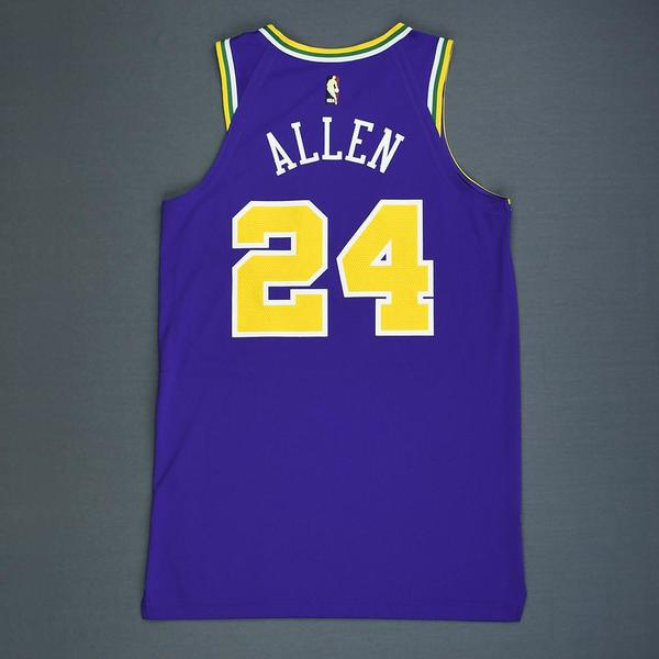 Grayson Allen - Utah Jazz - Game-Worn Classic Edition 1986-96 Road ... e6ccee06f
