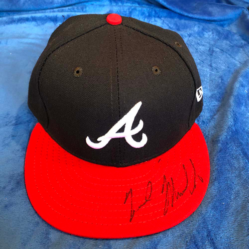 Photo of UMPS CARE AUCTION: Nick Markakis Signed Braves Hat, Size 7 1/8