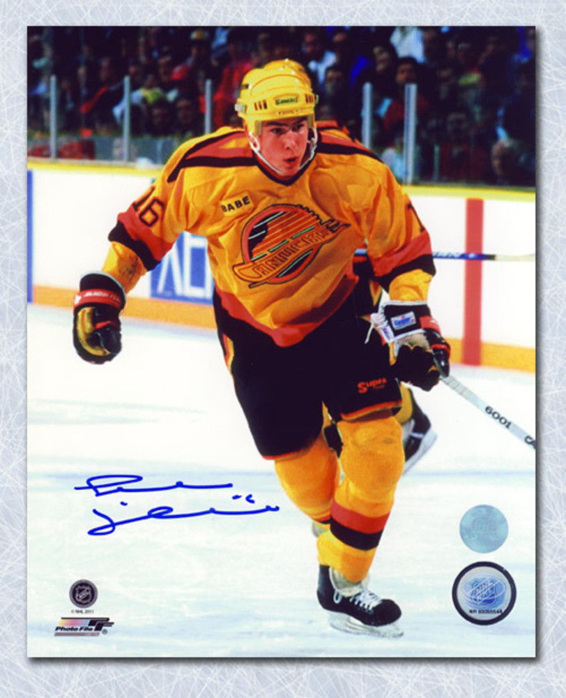 Trevor Linden Vancouver Canucks Autographed Yellow Jersey Rookie 8x10 Photo