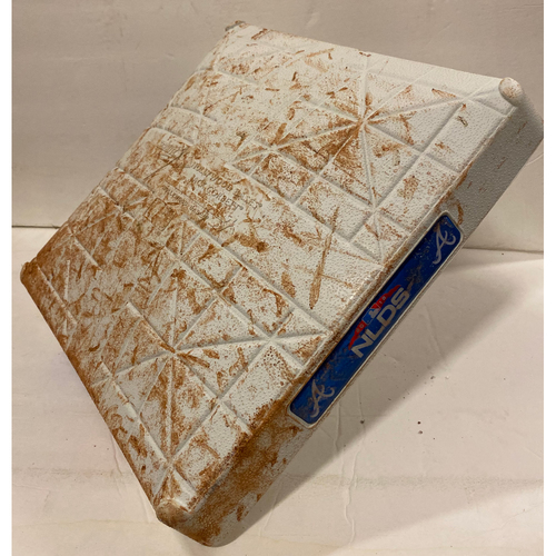 Photo of 2018 NLDS Game Used Base - Second Base Used During 1st Inning - 10/7/18