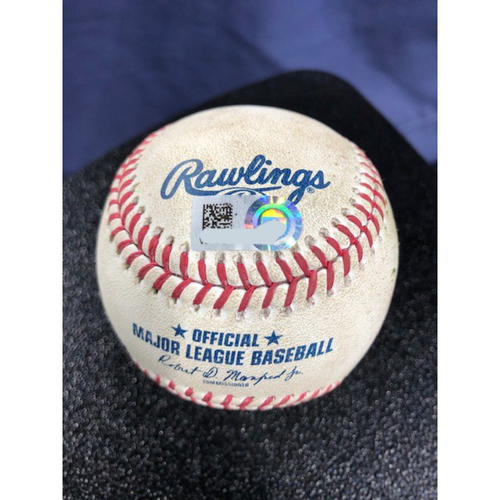 Photo of Game-Used Baseball - 2020 ALCS - Houston Astros vs. Tampa Bay Rays - Game 7 - Pitcher: Pete Fairbanks, Batter: Carlos Correa (2-RBI Single) - Top 8