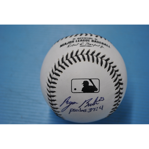 "Photo of 2020 MLB Black Lives Matter Commemorative Ball - Autographed by Byron Buxton - Inscribed ""psalms 37:4"""