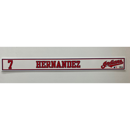 Photo of 2020 Spring Training Game Used Locker Name Plate - Cesar Hernandez