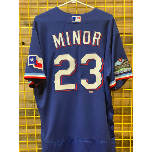 Photo of Mike Minor Team-Issued Blue Jersey