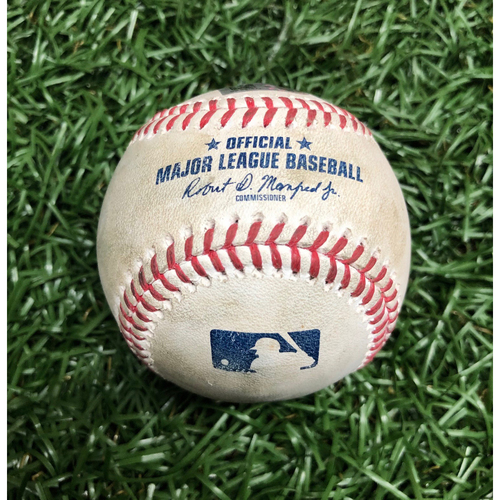 Photo of Game Used Baseball: Brandon Lowe foul ball off Zack Wheeler - September 26, 2020 v PHI