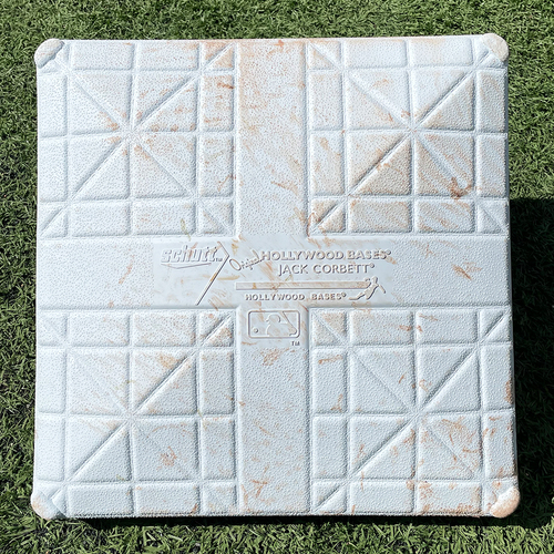 Photo of Game Used Jackie Robinson Day Base - 3rd Base, Innings 1-3 - Mets vs. Nationals - 4/23/21