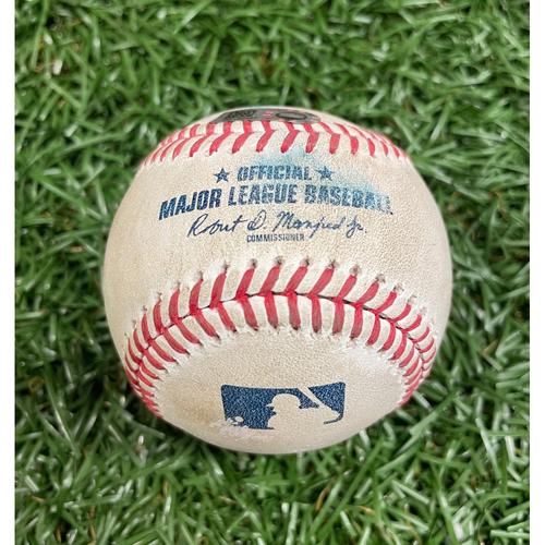 Photo of Game Used Baseball: Alex Verdugo single off Tyler Glasnow - Top 1 - September 12, 2020 v BOS