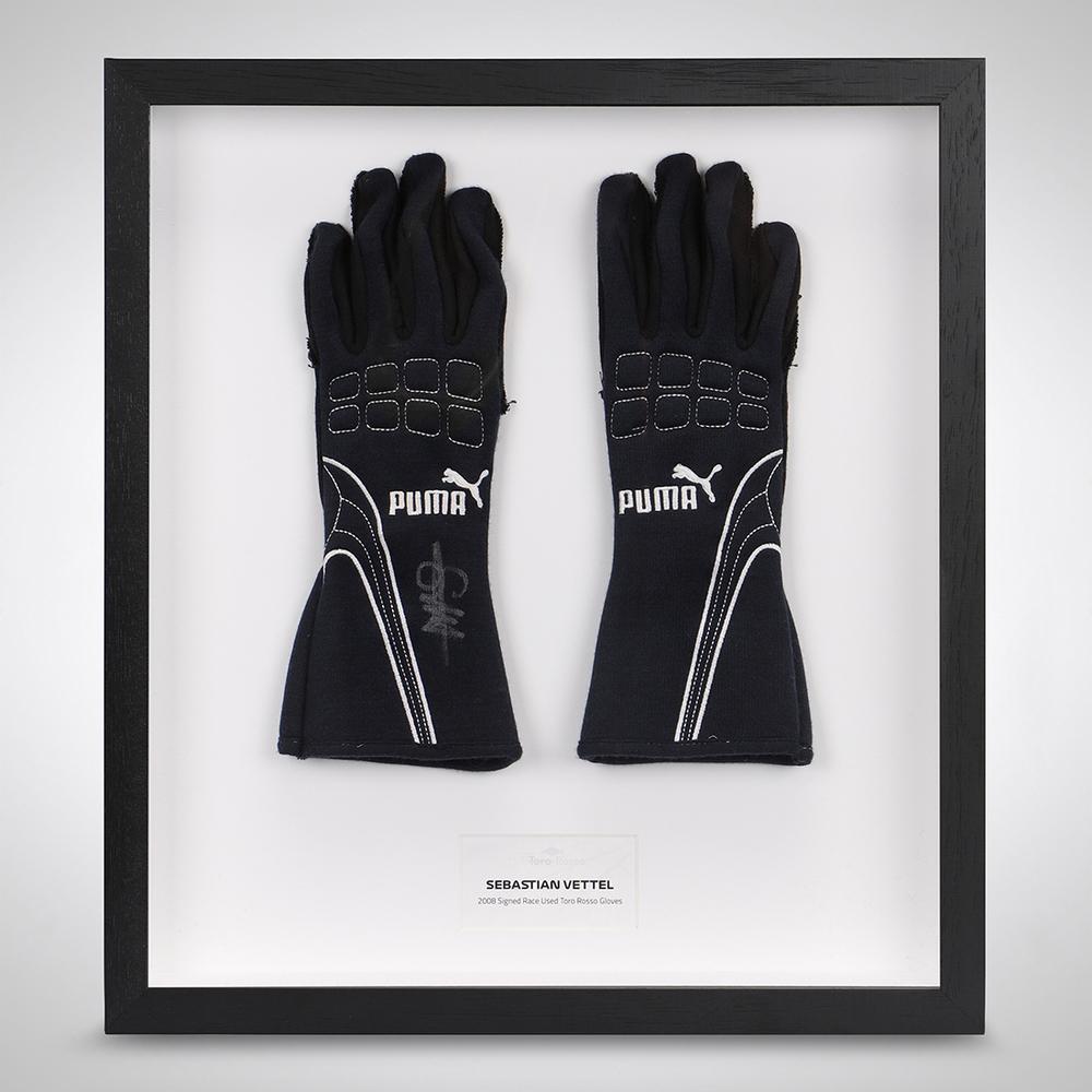 Sebastian Vettel 2008 Signed Race Gloves