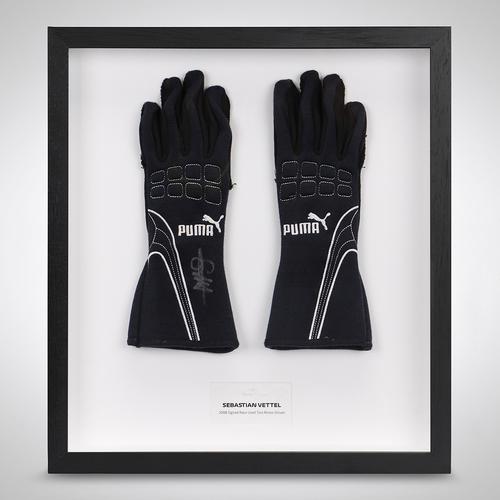 Photo of Sebastian Vettel 2008 Signed Race Gloves