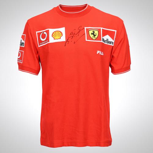 Photo of Michael Schumacher 2003 Signed Ferrari Shirt - Monaco GP