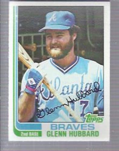 Photo of 1982 Topps #482 Glenn Hubbard