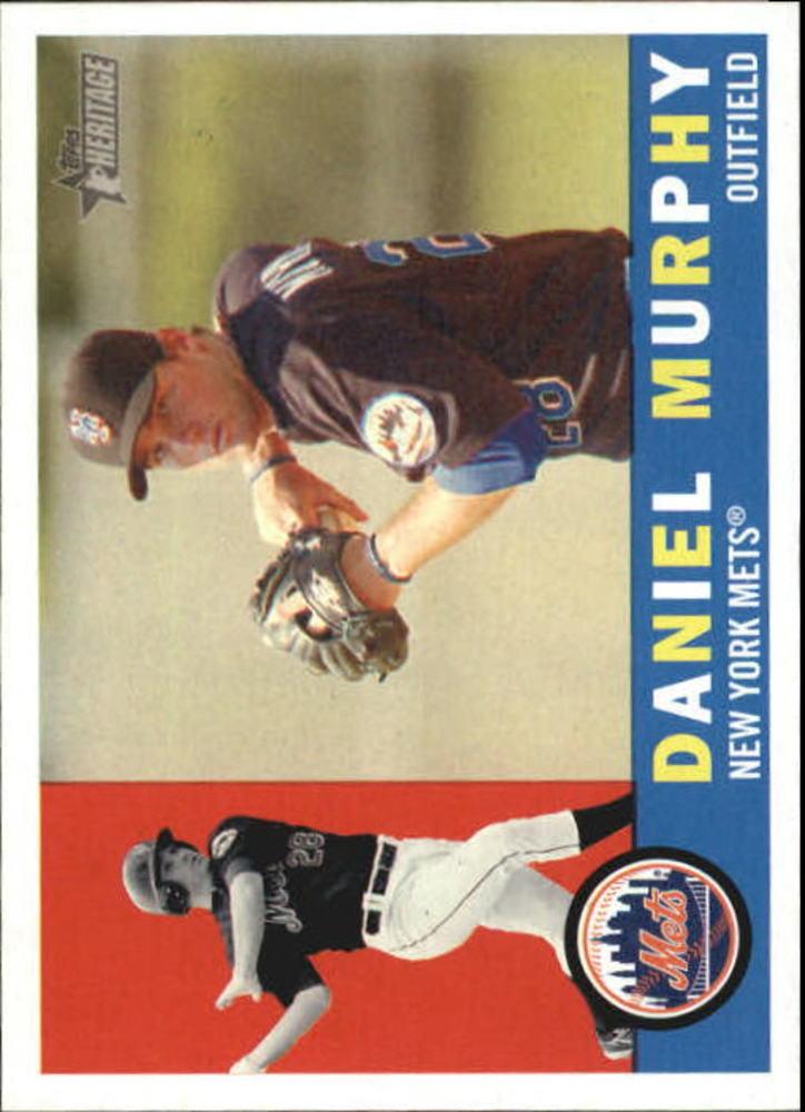 2009 Topps Heritage #179 Daniel Murphy Rookie Card -- Nationals post-season