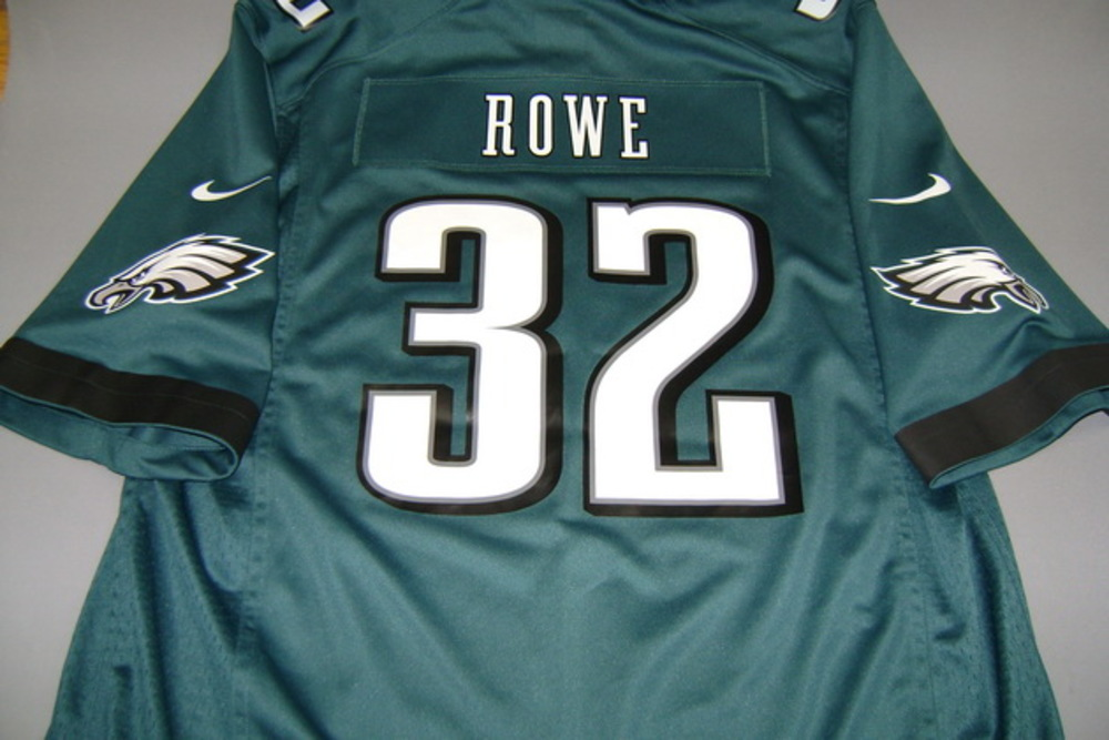 NFL Auction   EAGLES - ERIC ROWE REPLICA EAGLES JERSEY - SIZE XL