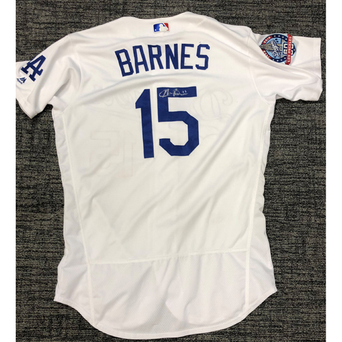 Photo of LA Dodgers Foundation Auction: Austin Barnes 2018 Game-Used Autographed LA Dodger Jersey