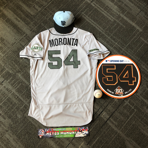 Photo of San Francisco Giants - Reyes Moronta Game-Used Memorabilia Ultimate <i>From The Clubhouse</i> Collector's Pack