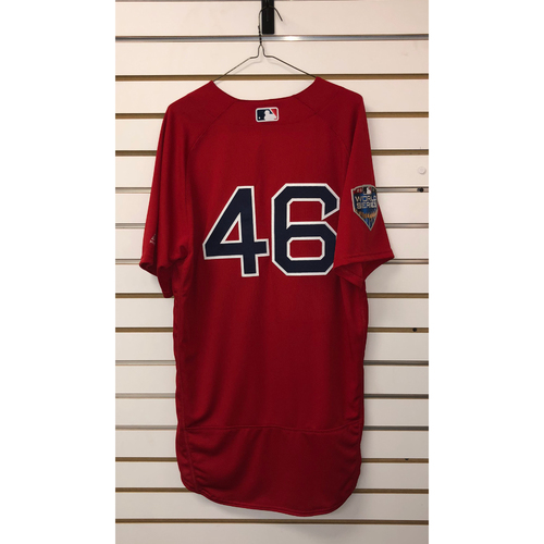 Photo of Craig Kimbrel Team-Issued 2018 World Series Home Alternate Jersey