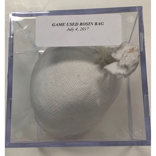 Photo of Game-Used Rosin Bag: July 4, 2018