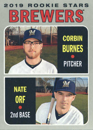 Photo of 2019 Topps Heritage #88 Nate Orf RC/Corbin Burnes RC