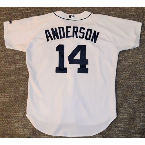 Photo of Matt Anderson Detroit Tigers #14 Home Jersey (NOT MLB AUTHENTICATED)