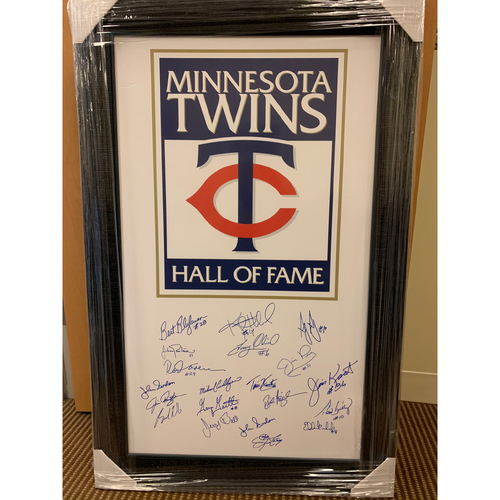 Photo of Twins Hall of Fame Autographed Poster