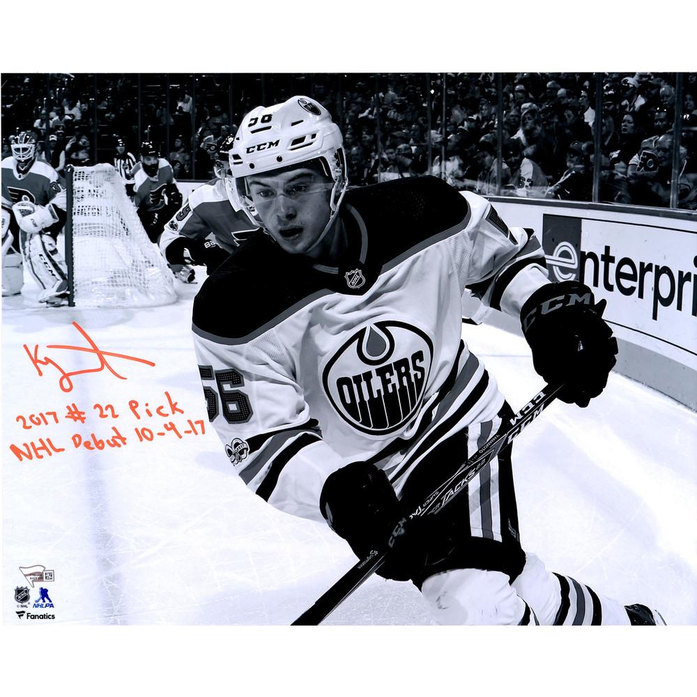 Kailer Yamamoto Edmonton Oilers Autographed 16