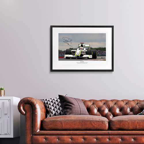 Photo of Jenson Button 2009 Silverstone GP Signed Photo
