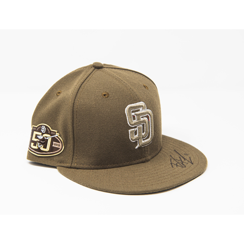 Photo of Ty France Autographed Military Appreciation Sundays On Field Hat, 50th Anniversary Patch - NOT MLB Authenticated - Padres Certificate of Authenticity Included