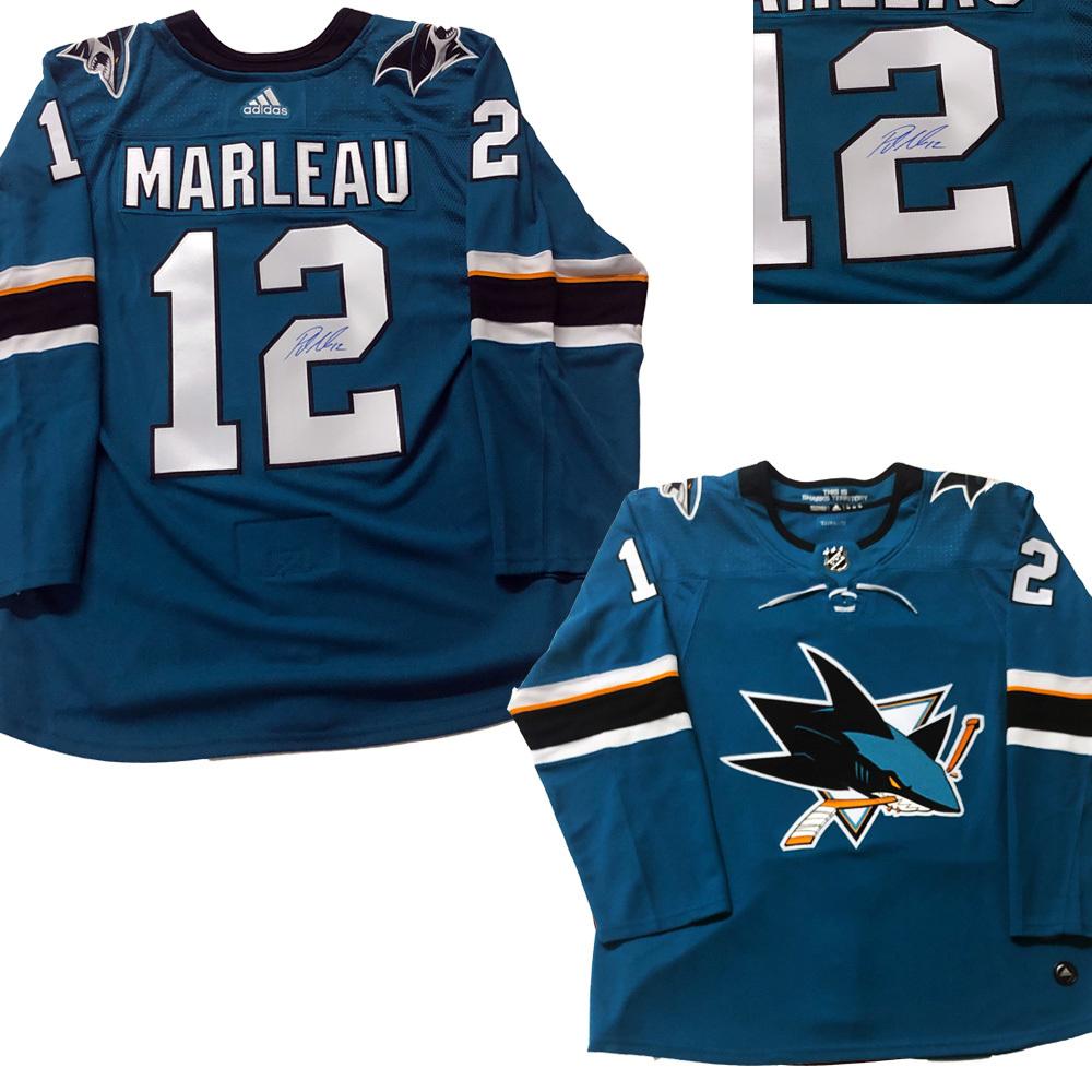 PATRICK MARLEAU Signed San Jose Sharks Teal Adidas Pro Jersey