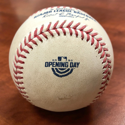 Photo of 2020 Opening Day Game Used Baseball: Pitcher - Hansel Robles | Batter - Ramon Laureano (Hit By Pitch) - Btm 10 - 7/24/20 vs LAA *1st MLB extra inning game with new format