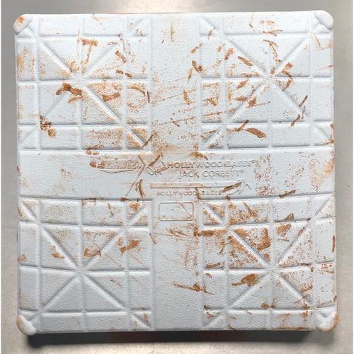 Photo of Game Used ALDS Third Base: Brandon Lowe (1-First Career Postseason HR) & Willy Adames (2) Home Runs - Innings 4-6 - October 7-8, 2019 v HOU