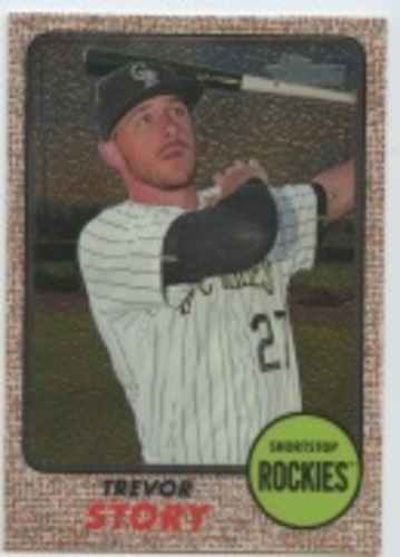 Photo of 2017 Topps Heritage Chrome #THC443 Trevor Story