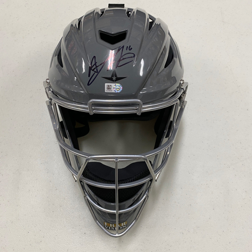 Photo of #16 Aramis Garcia Team Issued Autographed Gray Catchers Mask