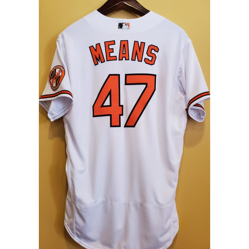 Photo of John Means - Home Jersey: Game Used