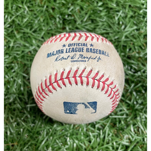Photo of Game Used Baseball: Kevin Plawecki strikeout, Jackie Bradley Jr. strikeout & Yairo Munoz ground-rule double off Diego Castillo - Top 9 -  September 12, 2020 v BOS