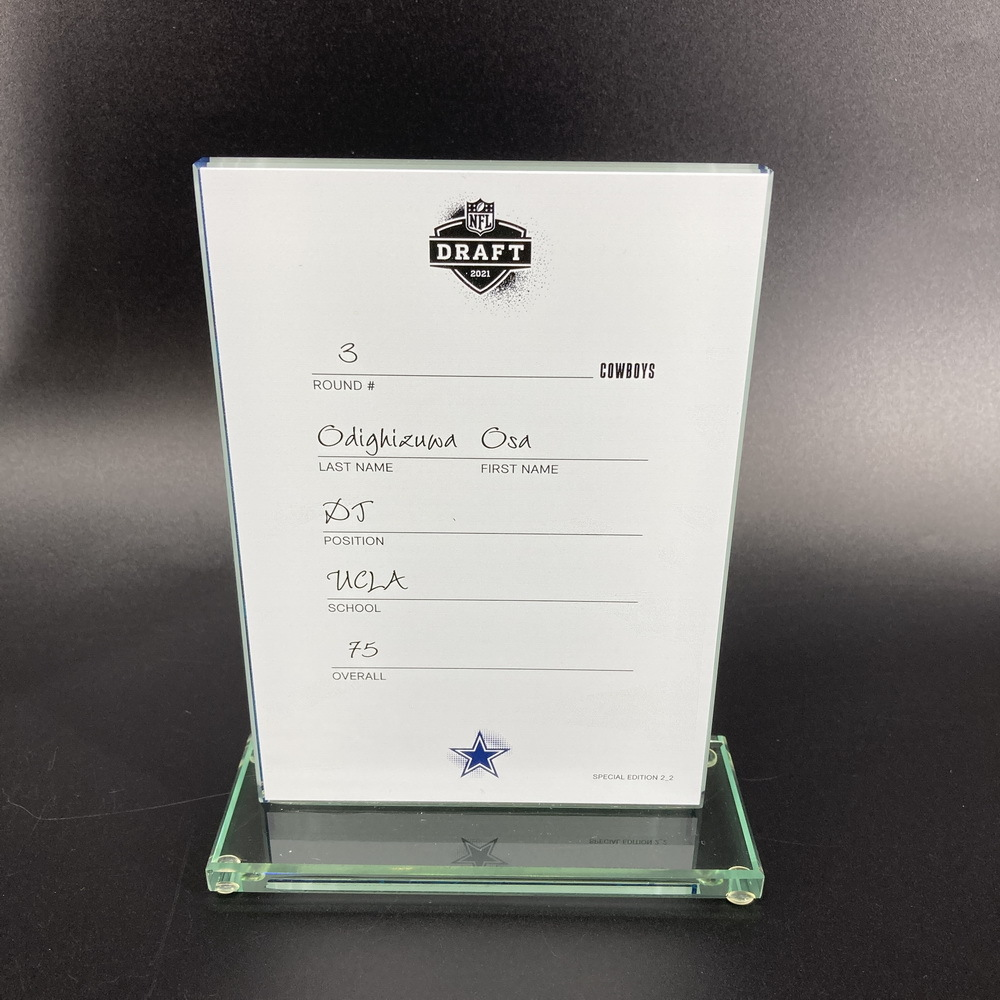NFL - Cowboys Osa Odighizuwa 2021 NFL Draft Card Special Edition 2 of 2