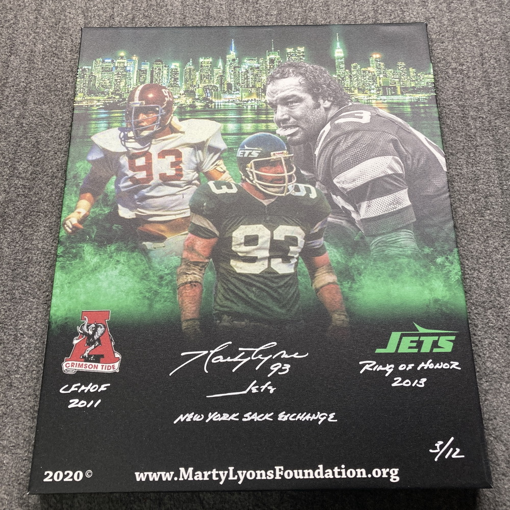 PCC - Jets Marty Lyons Signed Limited Edition Canvas Artwork