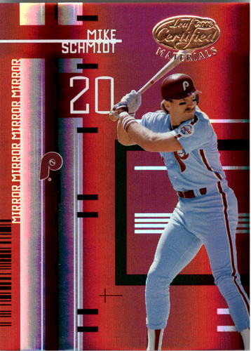 Photo of 2005 Leaf Certified Materials Mirror Red #195 Mike Schmidt Legend Phillies/50