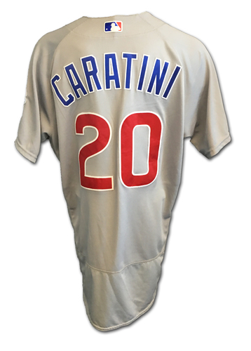 Victor Caratini Game-Used Jersey -- Cubs Clinch 2017 NL Central Division -- Cubs at Cardinals -- 9/27/17