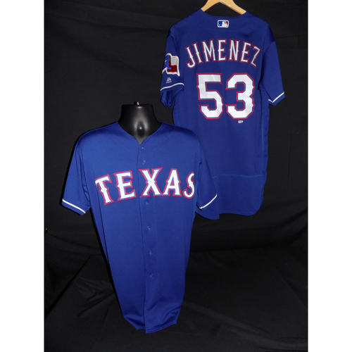 Photo of A.J. Jimenez Game-Used Blue Jersey - Size 46