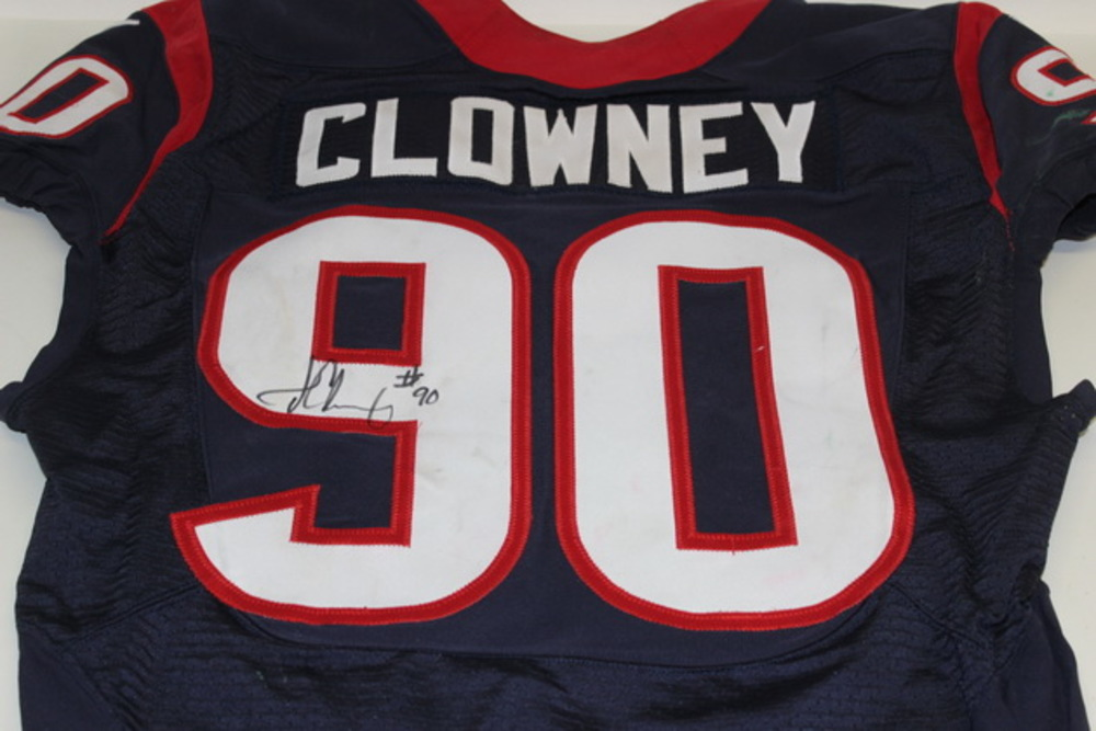 STS - TEXANS JADEVEON CLOWNEY GAME WORN AND SIGNED TEXANS JERSEY (NOVEMBER 22, 2015)