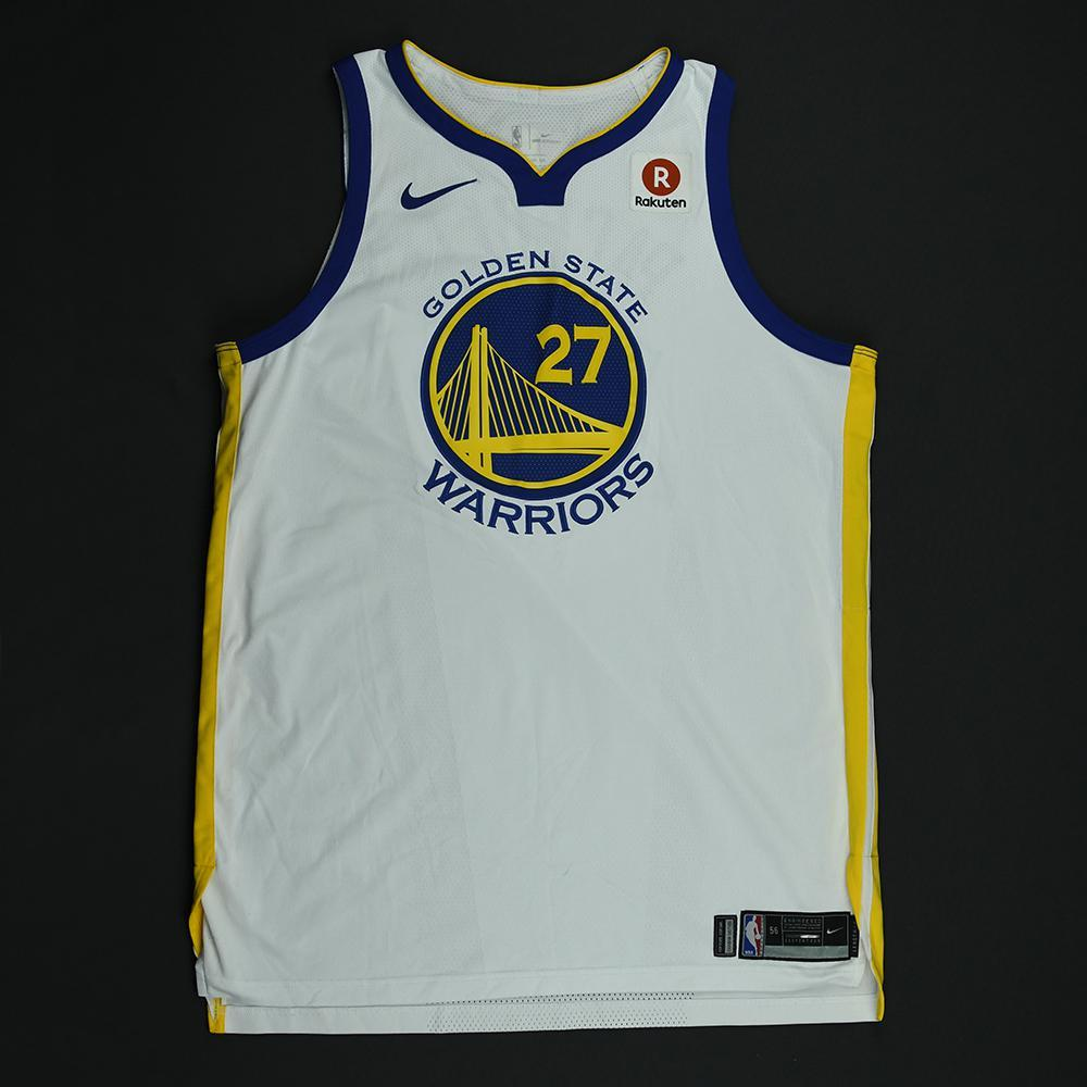 Zaza Pachulia - Golden State Warriors - 2018 NBA Finals - Game 1 - Game-Worn White Jersey - Dressed, Did Not Play