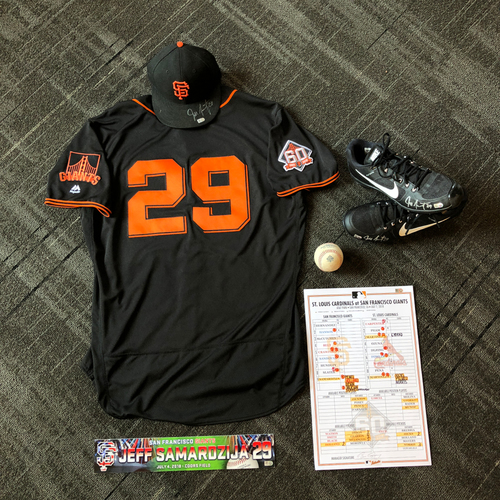 Photo of San Francisco Giants - Jeff Samardzija Game-Used Memorabilia  Ultimate <i>From The Clubhouse</i> Collector's Pack