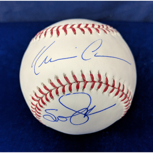 Photo of Kershaw's Challenge: Kevin Costner and Susan Sarandon Dual Signed Baseball - Sarandon autograph is NOT MLB Authenticated